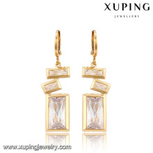 91315-Xuping Fashion Rectangle Special Design Drop Jewelry Earrings With Crystal