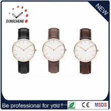 Reloj de reloj de los hombres de la correa de cuero impermeable de la manera (DC-1197)