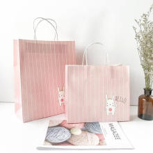 Customized fashion clothes packing paper tote bag