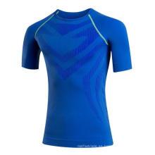 Tight Higt Elastic Quick Sweat Men Fitness Camiseta deportiva