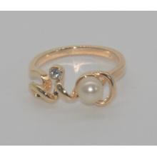 Dia dos namorados pérola com anel de amor de diamante (xrg12460)