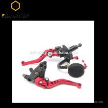 "Universal CNC 7/8"" 22mm Newest fashion Style CNC Clutch Levers Motorcycle Brake Pump Master Cylinder Reservoir set"