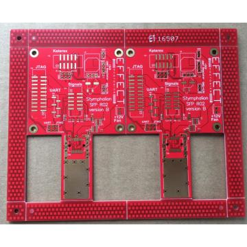 4 couches de soudure rouge ENIG PCB