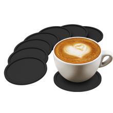 Custom round square nonslip silicon coffee mug coaster