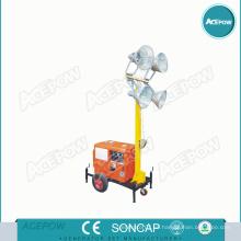 5kVA generador portátil con torre de luz