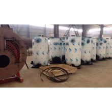 Esterilizador vertical a gás diesel para lavanderia, caldeira a vapor