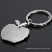 China wholesale custom hot selling metal apple keychain