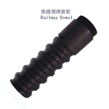 HDPE Railway Concrete Sleeper Screw Dowel