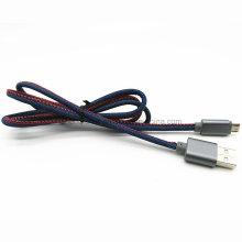 Cabo de carga de dados USB Jeans Denim para HTC