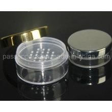 Klare runde Kunststoff Kosmetik Verpackung Sichter Jar (PPC-LPJ-013)