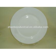 Daily use white ceramic porcelain plate