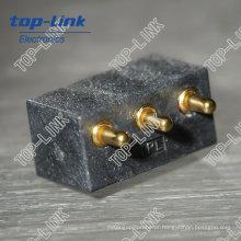 Pogo Pin Connector (montagem de PCB, 3 contatos, ângulo reto)
