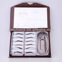 Tatuaje accesorios-Perfecto 12 tipos de cejas Kit Stencil para el diseño de las cejas