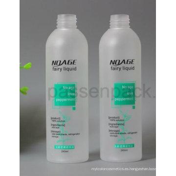 Botella plástica helada 250ml del animal doméstico para el empaquetado líquido cosmético