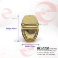 Art und Weiseart-Metalllied ein Metallumdrehungs- und -schnappverschluss-Hardware dekorativ Hochwertige Handtasche Push-Verschluss