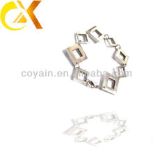 Pulseira de aço inoxidável jóias em forma quadrada