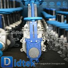 Didtek Smelting Plant Chain Wheel Knife Gate Valve