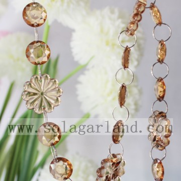 Atacado 29MM & 18MM Cristal frisada garland Trim