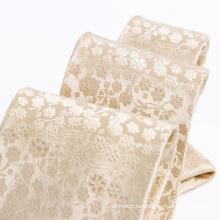 Lazo floral 100% hecho a mano de la seda tejida para hombre