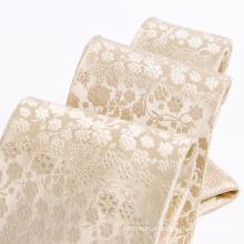 100% Handmade tecido de seda Floral Tie Mens