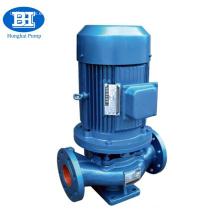 Bomba de agua de circulación vertical accionada por motor eléctrico.