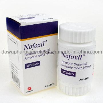 Bom efeito para o tratamento do HIV 300mg Tenofovir Disoproxil Fumarate Tablet