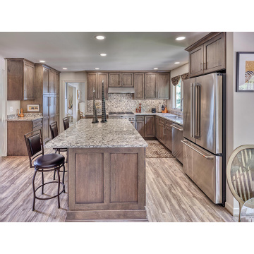 Classic Solid Wood Modular Kitchen Cabinets