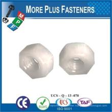 Made in Taiwan Black Metric Nylon Hex Natural Finsh Jam Plastic Hex Nut