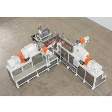 Sistema de pelotização composto de PVC para extrusora de plástico