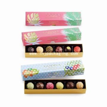 Noble Simplestyle Presente Embalagem Caixa de Chocolate Papel com Foil Stamping