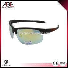 Óculos de sol de esporte semi-bordado personalizados de alta qualidade baratos