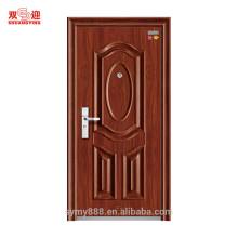 Portes d'entrée anti-feu en acier ignifuges de 1.5hours avec la serrure et la poignée d'acier inoxydable