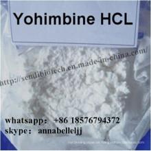 Natürliches männliches Enhancement Powder Yohimbine Hydrochlorid CAS 65-19-0 Yohimbine HCl