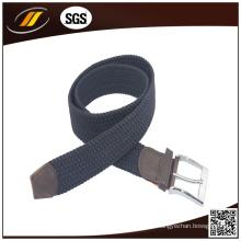 Correia elástica trançada trançada personalizada nova do estiramento com couro Combine