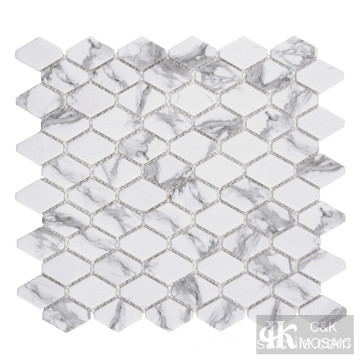 C & K Mosaic Hexagon Glass Mosaic Tile Backsplash Cuisine