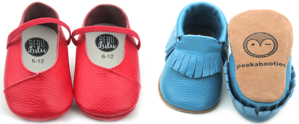 baby oxford shoes with Printing logo