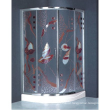 Special Design Tempered Glass Painting Shower Box (H018)