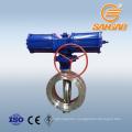 wcb a216 cf8m c95800 dn250 butterfly valve pneumatic actuators wafer butterfly valve double offset pneumatic