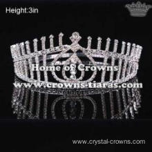 Clear Rhinestone Miss HongKong Pageant Crowns