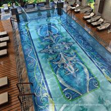 Fondo de la piscina Diseño de arte Mosaico de vidrio