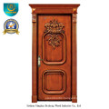 Classic European Solid Wood Door with Carving (ds-8009)