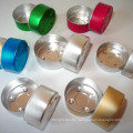 Colored Aluminum Tealight Cups Empty Metal Candle Containers Mold