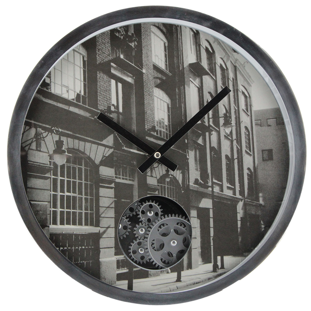 16 Inches Gear Walll Clock With A Picture