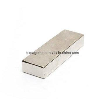 Block Neodymium NdFeB Magnet Terra Rara 60 X 20 X 10mm N52 Grau