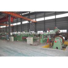 Máquina de corte a alta velocidad de alta velocidad de venta caliente para bobinas de acero HR, CR, GI
