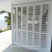 new design Europe exterior aluminum shutter in white matching bi-fold and sliding window