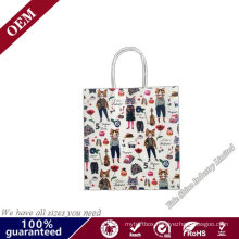Promotional Luxury Custom Print Branded Paper Bag Gift Packing Cardboard Large Carrier Shopping Bag with Handle