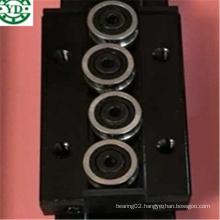 Four Wheel 80mm Length Three Wheel 44mm Width Black Double Axis Guide Block Sgb15nuu