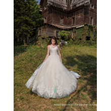 Luxury heavy lace wedding gown bride dress queen style wedding dress bridal royal train dresses