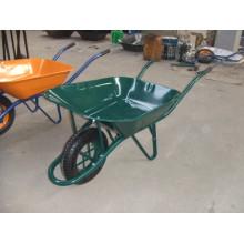 Brouette de roue de construction verte Wb6400